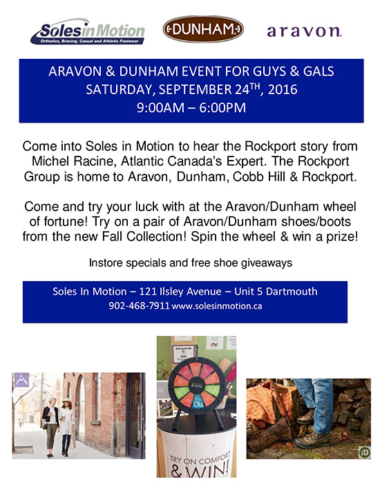 ARAVON & DUNHAM EVENT FOR GUYS & GALS SATURDAY, SEPTEMBER 24TH , 2016